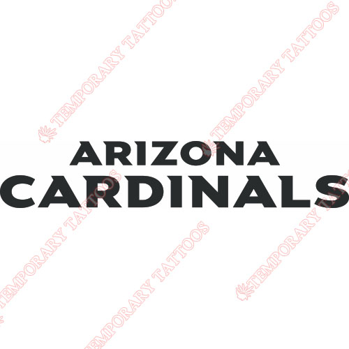 Arizona Cardinals Customize Temporary Tattoos Stickers NO.386