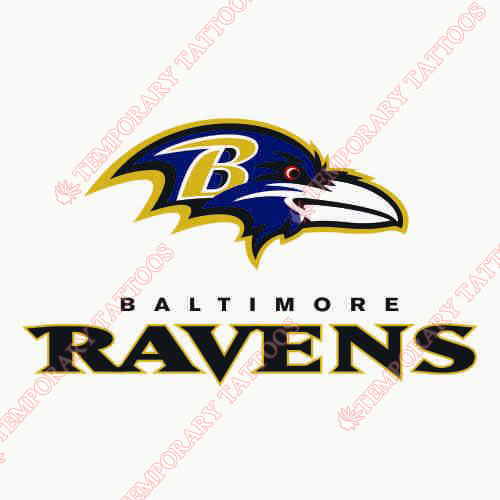 Baltimore Ravens Customize Temporary Tattoos Stickers NO.423