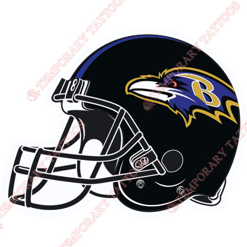 Baltimore Ravens Customize Temporary Tattoos Stickers NO.427