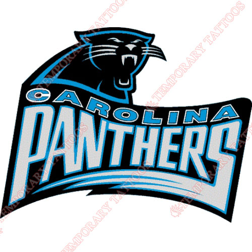 Carolina Panthers Customize Temporary Tattoos Stickers NO.440