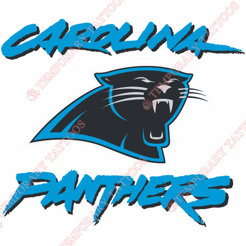 Carolina panthers temp tattoos customize temporary for Carolina panthers tattoos
