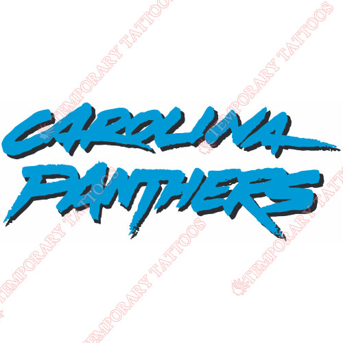 Carolina Panthers Customize Temporary Tattoos Stickers NO.445