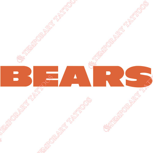 Chicago Bears Customize Temporary Tattoos Stickers NO.450