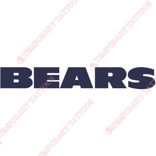 Chicago Bears Customize Temporary Tattoos Stickers NO.451