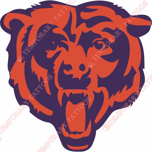 Chicago Bears Customize Temporary Tattoos Stickers NO.454
