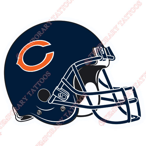 Chicago Bears Customize Temporary Tattoos Stickers NO.460