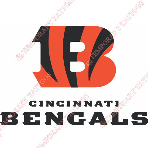 Cincinnati Bengals Customize Temporary Tattoos Stickers NO.470