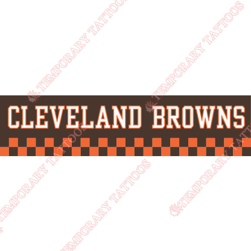Cleveland Browns Customize Temporary Tattoos Stickers NO.485
