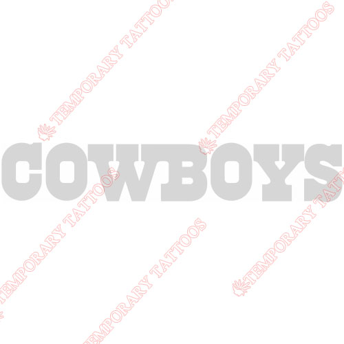 Dallas Cowboys Customize Temporary Tattoos Stickers NO.494