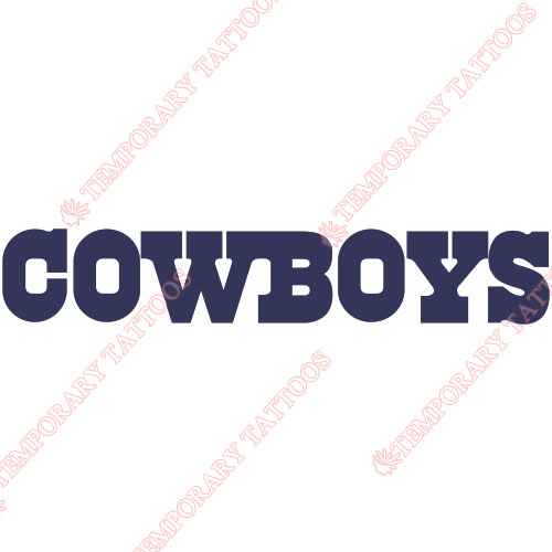 Dallas Cowboys Customize Temporary Tattoos Stickers NO.495