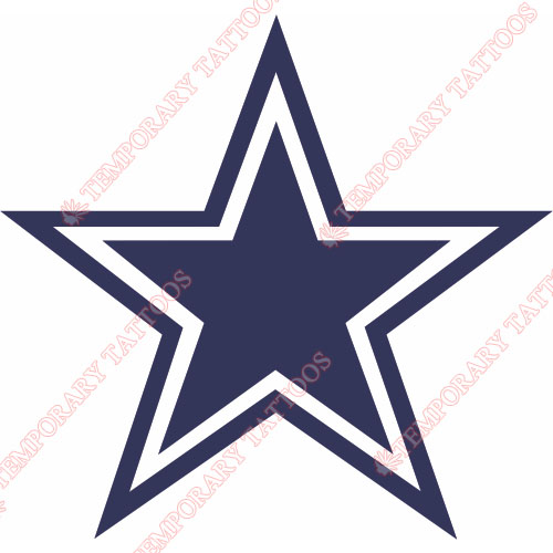 Dallas Cowboys Customize Temporary Tattoos Stickers NO.496