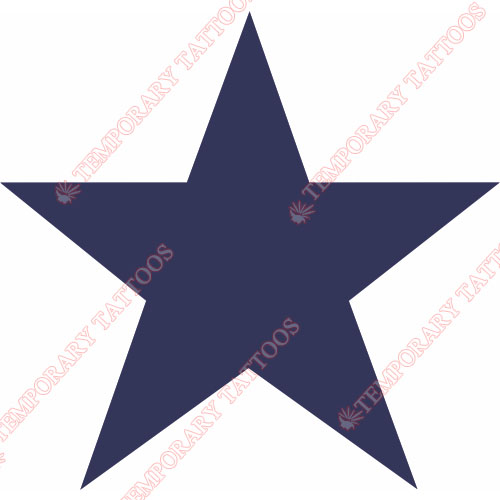 Dallas Cowboys Customize Temporary Tattoos Stickers NO.497
