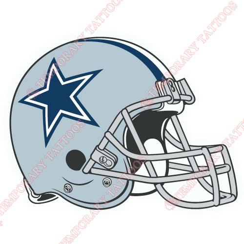 Dallas Cowboys Customize Temporary Tattoos Stickers NO.498