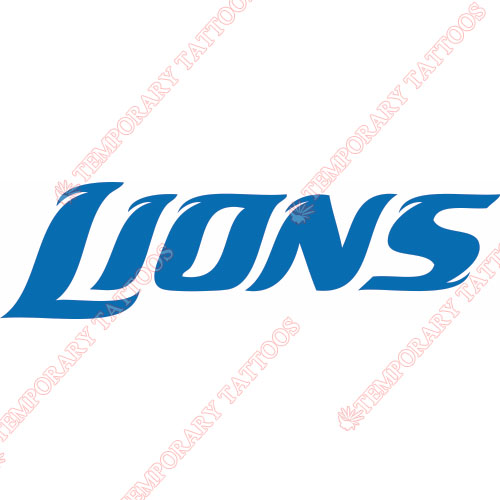 Detroit Lions Customize Temporary Tattoos Stickers NO.514