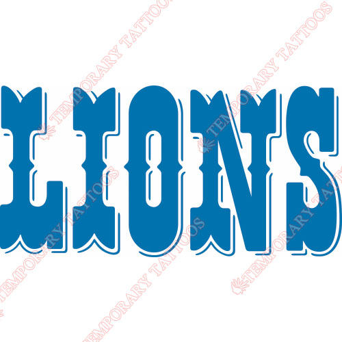 Detroit Lions Customize Temporary Tattoos Stickers NO.515