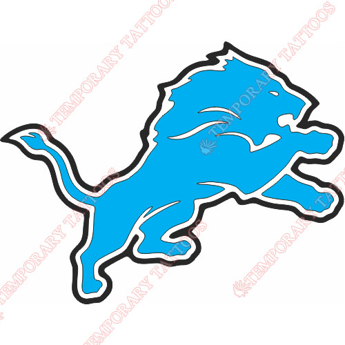 Detroit Lions Customize Temporary Tattoos Stickers NO.516