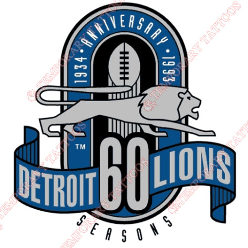 Detroit Lions Customize Temporary Tattoos Stickers NO.518