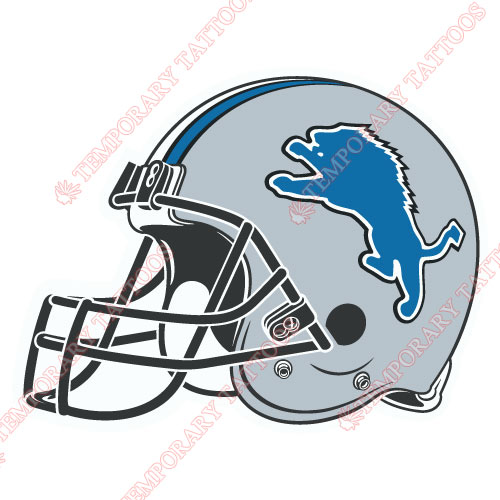 Detroit Lions Customize Temporary Tattoos Stickers NO.520