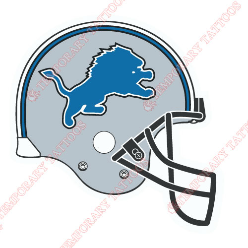 Detroit Lions Customize Temporary Tattoos Stickers NO.521