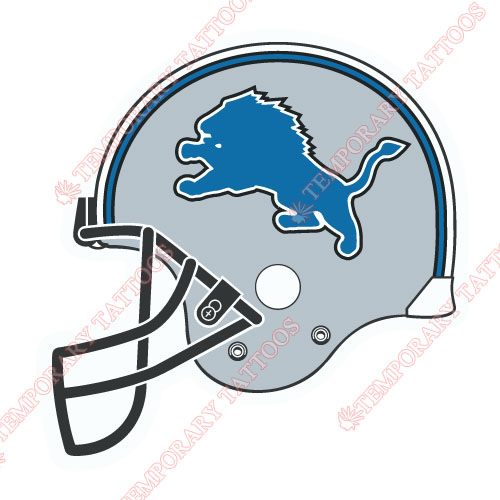 Detroit Lions Customize Temporary Tattoos Stickers NO.522