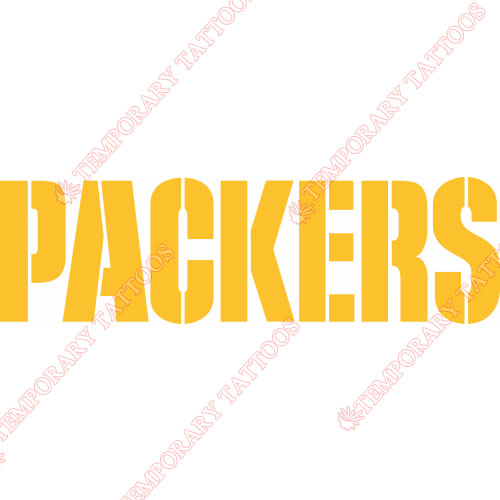 Green Bay Packers Customize Temporary Tattoos Stickers NO.523