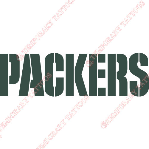 Green Bay Packers Customize Temporary Tattoos Stickers NO.524