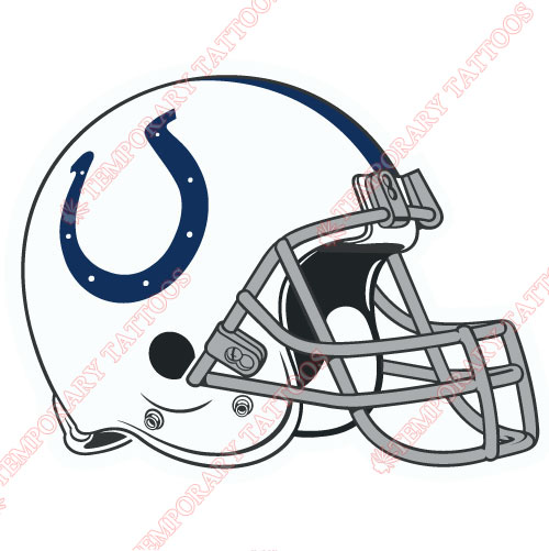 Indianapolis Colts Customize Temporary Tattoos Stickers NO.544