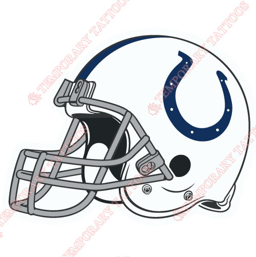 Indianapolis Colts Customize Temporary Tattoos Stickers NO.545