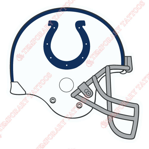 Indianapolis Colts Customize Temporary Tattoos Stickers NO.546