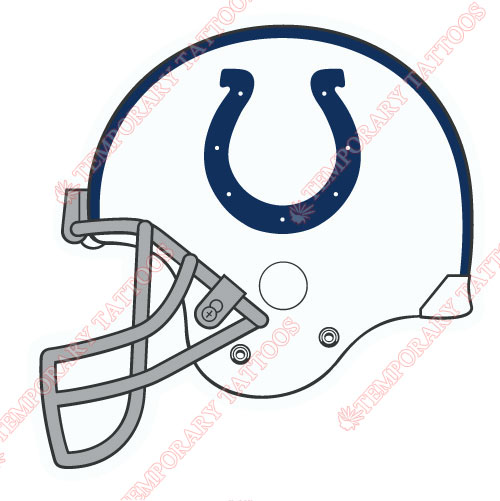 Indianapolis Colts Customize Temporary Tattoos Stickers NO.547
