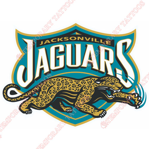 Jacksonville Jaguars Customize Temporary Tattoos Stickers NO.551