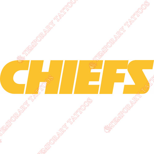 Kansas City Chiefs Customize Temporary Tattoos Stickers NO.567