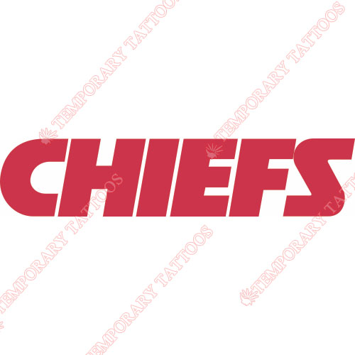 Kansas City Chiefs Customize Temporary Tattoos Stickers NO.568