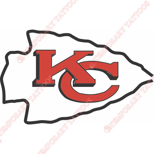 Kansas City Chiefs Customize Temporary Tattoos Stickers NO.569