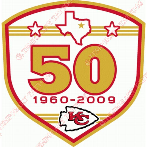 Kansas City Chiefs Customize Temporary Tattoos Stickers NO.570