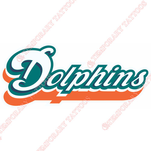 Miami Dolphins Customize Temporary Tattoos Stickers NO.575