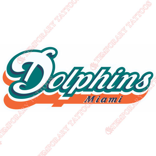Miami Dolphins Customize Temporary Tattoos Stickers NO.577