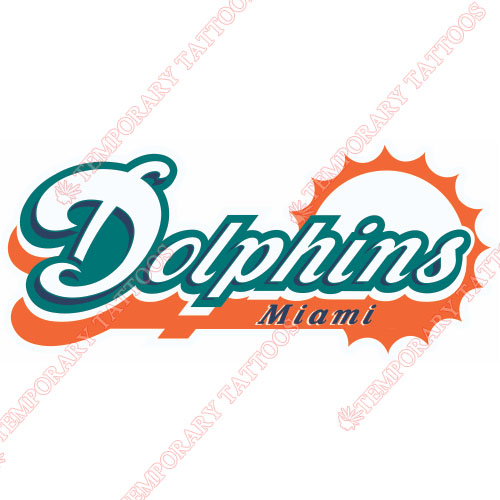 Miami Dolphins Customize Temporary Tattoos Stickers NO.578
