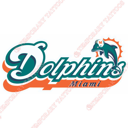 Miami Dolphins Customize Temporary Tattoos Stickers NO.581
