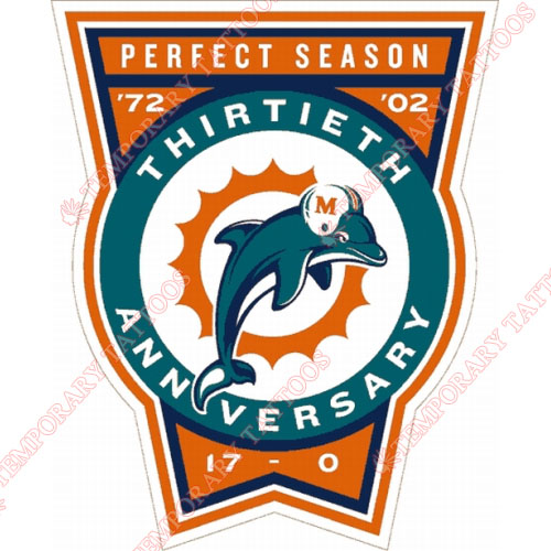 Miami Dolphins Customize Temporary Tattoos Stickers NO.583