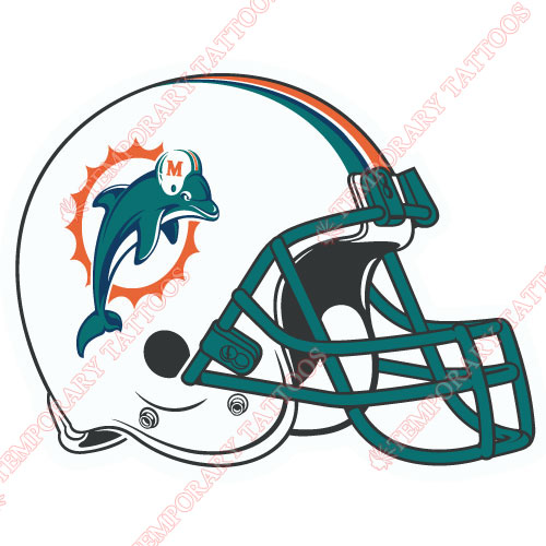 Miami Dolphins Customize Temporary Tattoos Stickers NO.584
