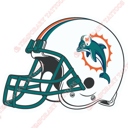 Miami Dolphins Customize Temporary Tattoos Stickers NO.585