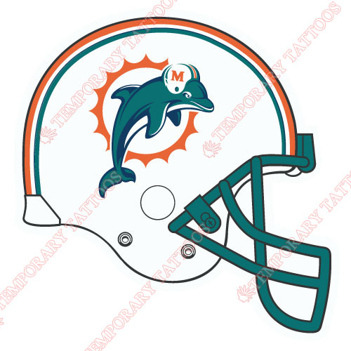 Miami Dolphins Customize Temporary Tattoos Stickers NO.586