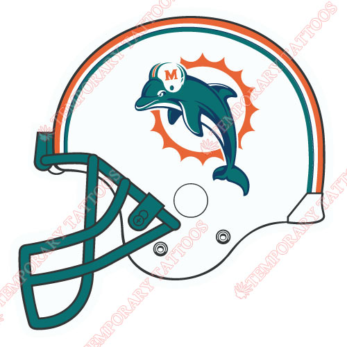 Miami Dolphins Customize Temporary Tattoos Stickers NO.587