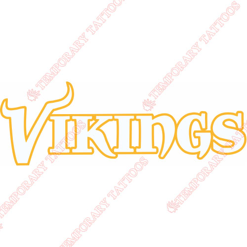 Minnesota Vikings Customize Temporary Tattoos Stickers NO.588