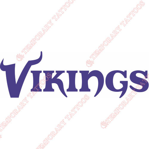 Minnesota Vikings Customize Temporary Tattoos Stickers NO.589
