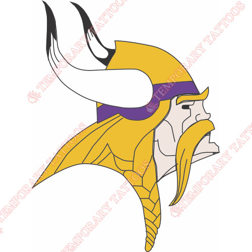 Minnesota Vikings Customize Temporary Tattoos Stickers NO.591