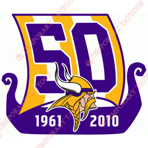 Minnesota Vikings Customize Temporary Tattoos Stickers NO.592