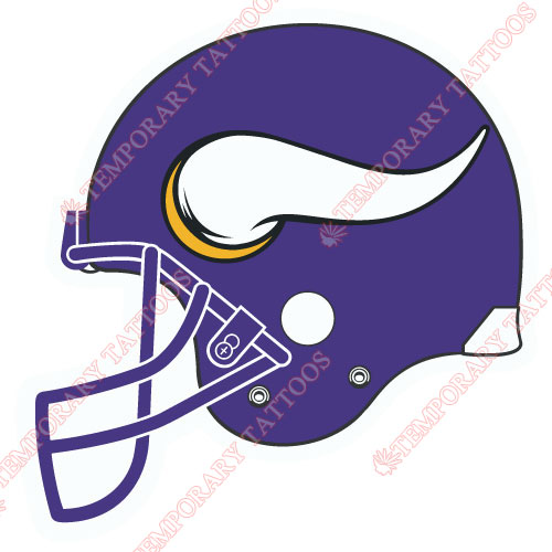 Minnesota Vikings Customize Temporary Tattoos Stickers NO.596