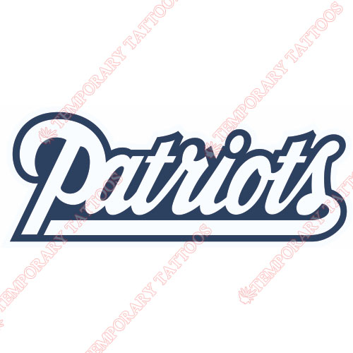 New England Patriots Customize Temporary Tattoos Stickers NO.597